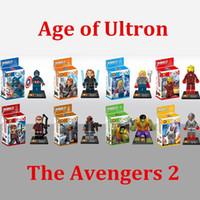 Wholesale Marvel Avengers Age Of Ultron Figures Building Blocks Sets Model Minifigures Bricks Classic Toys boxes