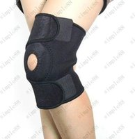 Wholesale Steel Bone Neoprene Patella Black Elastic Knee Brace Fastener Support Guard Gym Sport Knee Belt Support