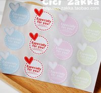 Wholesale SW003 Cute Round Heart Especially For You Sticker seal sticker paste gift stickers decoration stickers