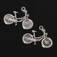 Wholesale Vintage x26mm Antique Silver Plated Bicycle Charms Pendants Jewelry Findings