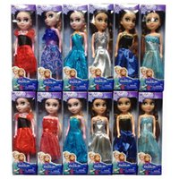 Wholesale 12PCS LOTNew style box kid toys Frozen Mini Elsa Anna Princess dolls reborn juguetes for Girls birthday gift the lowest price