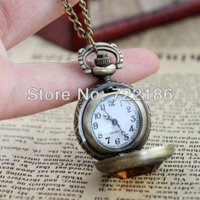antique stop watch - New Style Cute Fashion Luxury Created Gemstone Openable Elegant Pocket Watch Necklace pocket compass watch pocket stop watch