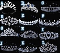 Wholesale Elegant Rhinestone Floral Flowers Headbands Hair Jewelry Sliver Bridal Hairdress Weeding Head Accessories