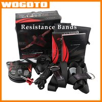 Wholesale 2016 Top Quality CrossCore Fitness Resistance Bands strength Training Pull Rope Training Pull Rope with Exercise Fast Delivery DHL free