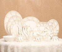 Wholesale Dinnerware Sets Jingdezhen ceramic tableware fine bone china tableware set bowl dish spoon Gift Set