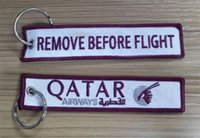 airway bag - QATAR Airways Doha Airline Remove Before Flight Style Embroidered Keyring Bag Tag x cm