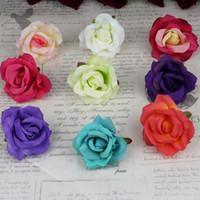 Valentine's Day Hanging Baskets Silk Flower 2016 Silk Artificial Flowers Rose Head Party Decoration Home Decor for wedding Decoration DIY rose flower wreath curling wedding 7CM