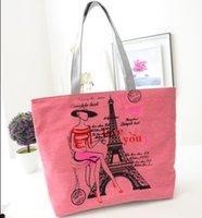 vente femmes Hot sac fourre-tout en toile mode loisirs femme sac de support d'impression de bande dessinée d'un sac à bandoulière 5 couleurs disponibles