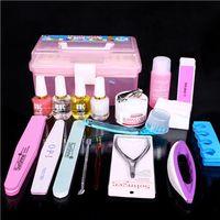 basic tool box - nail basic care kit nail manicure set tools with plastic tool box hot sale