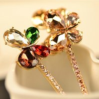 agate butterfly - 6pcs new fashion wedding jewelry accessories for hair crystal butterfly hair pins clip for women girls