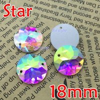 Round ab items - New Item box mm Crystal Clear AB Round Star Sew on stone crystal super shiny Flat Back rhinestone