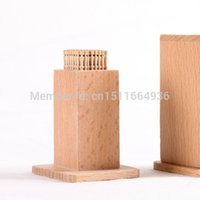 bar table storage - wooden Toothpick Holder Kitchen Dining bar Table Decoration storage Natural beech toothpick box gift