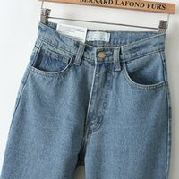 Wholesale Europen boyfriend style women high waisted pants jeans cowboy harem pants vintage cowboy full length pants loose cowboy pants