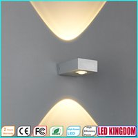 Wholesale 2W LED Wall Lamps Light Elegant Simple Aluminum AC85 to V LED Wall Light Bedside Passage Lamp Mirror Light