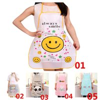 Wholesale New Arrivals Women s Lady s Pinafore Kitchen Restaurant Cooking Cleaning Tool Cute Carton PVC Size CM JA83