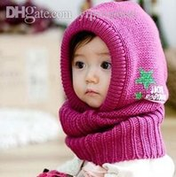 Wholesale Winter star burst models baby Siamese Children s hats scarves hats wool cap one