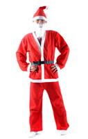 Санта костюмы Цены-2016 Рождество Санта-Клаус костюм взрослых Christamas костюм взрослых Рождество Костюм Рождественский вечер Костюм быстрая доставка