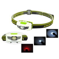 Wholesale Mini x40x35mm Mode Waterproof Lm CREE R3 LED Flashlight Super Bright Headlight Headlamp Torch Lanterna with Headband