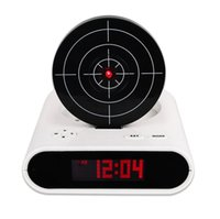 cool led gadgets - Unique Target Desk Shooting Gun Alarm Clock Cool Gadget Toy Gift Novelty With Red LED Backlight Y4255B