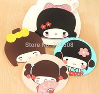 Cheap FD1058 Japanese Doll Silicone Rubber Cup Drink Coaster Cups Mat Glass Plate ~Random Style Sent~ 1PC