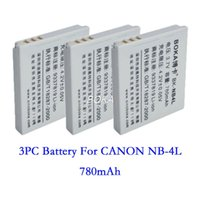 Wholesale PC V mAh NB L rechargeable Battery NB L NB4L Camera batteries for Canon PowerShot ELPH HS