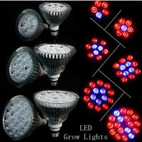 Wholesale LED Bulbs Grow Lights W W W W W W E27 LED Plant Light Lamp Par30 Par38 Hydroponic Grow Lamp Flower Garden Greenhouse