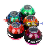 Wholesale by DHL or EMS pieces Wrist Power Force Ball Arm Exercise Gyroscope with LED Lighting Speed Meter