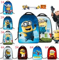 best travelling backpack - 2016 best sales cartoon Despicable Me Minion theme bag reducing the burden backpack Kids Students Schoolbag Boys Girls Children s Travel Bag