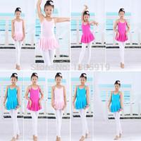 Wholesale Girls Kid Dance Dress Ballet Tutu Leotard Skate Dress Dancewear Clothes Y