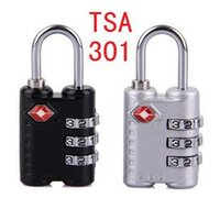 Wholesale 100PCS bags padlock computer BaoSuo combination lock TSA301