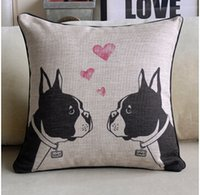 Wholesale French fashion classical elegant houndstooth pillow cushion French Bulldog pillow Cover high quality