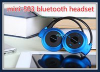 Cheap Wholesale free DHL Mini 503 Wireless Bluetooth Stereo Headset Music Headphone Earphone for Iphone 6 5S Galaxy S4 S6 S5 Note 4 HTC Sony LG