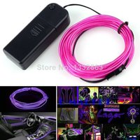 Cheap New Sale 2014 2M Flexible Wire Neon Light For Party Dance Car Decor +Controller Purple TK1369