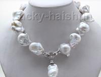 baroque pearl pendants - New fine pearl jewelry Rare quot mm white baroque keshi Pearls Necklace pendant