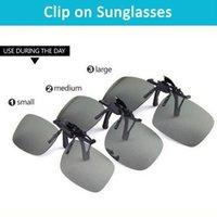Wholesale New Unisex Clip daily night men and women myopia polarized balck sunglasses clip eyewear fashion goggles OM B6