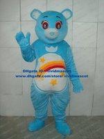 adult care bear costume - Pretty Blue Wish Bear Care Bears Mascot Costume Adult Size With Small Blue Heart Shaped Nose Rainbow Bridge Tummy No FS