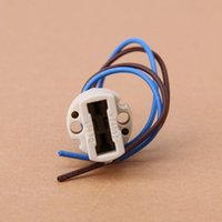 Wholesale 10Pcs V A G9 Socket Ceramic Light Lamp Holder with Cable Lead Off White IN STOCK order lt no track