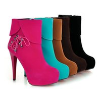 ankle cuff pump - High Heel Pumps Cuffed Lace Up Ankle Boots US Womens Ladies Shoes