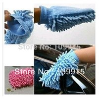 Wholesale New Soft Microfiber Car Dusting Washing Cleaning Brush Glove Lint Housekeeping XZY0024