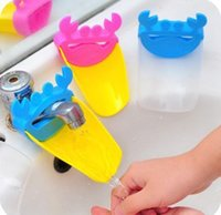 Wholesale 2pcs Creative Fashion Children s Self service Washing Hand Water Chute The Sink Tap Extender Tool New