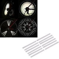 Wholesale Silver Bike Cycling Bicycle Wheel Reflective Spoke Reflector Warning Strips Clip mm