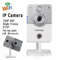Wholesale Wireless Wifi IP Camera IR Remote Full P HD Night Vision P2P Plug and Play Intelligent Network Security Guard Alarm CN C200