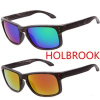wood planks - Fashion HOLBROOK Sunglasses men women Graining Cheap cycling Sports Sunglasses Imitation wood frame High Quality glasses