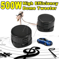 Wholesale Universal high quality x W Car Mini Dome Tweeter Loudspeaker Loud Speaker Super bass Power Audio Auto Sound Klaxon Tone
