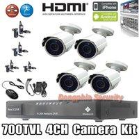 adapters ir cameras - CCTV System HDMI H DVR Channel Remote View TVL IR CCTV Camera Outdoor Power Adapter Night Vision CCTV DVR Kits