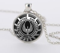 battlestar galactica - Battlestar Galactica Pendant Glass Dome necklaces Pendants silver vintage Necklace for men women gift movie jewelry CN