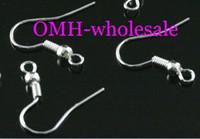 Wholesale OMH silver metal earring hooks pendant Earring Jackets mm Earrings Hoops Stud Drop hot sale