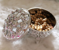 Wholesale Laser Cut Wedding Candy Boxes Exquisite Treasure Box Gold And Silver Party Gift Crystal Boxes