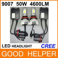 Wholesale Factory Outlet NEW LED Car Auto Headlight Kit W LM K K K K K Cree Source Car Fog Light Head Lamp F3