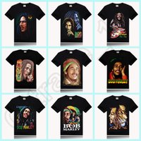 t-shirt wholesale - 100PCS HHA597 BOB MARLEY print new style round neck t shirt rock sir style promotion price design